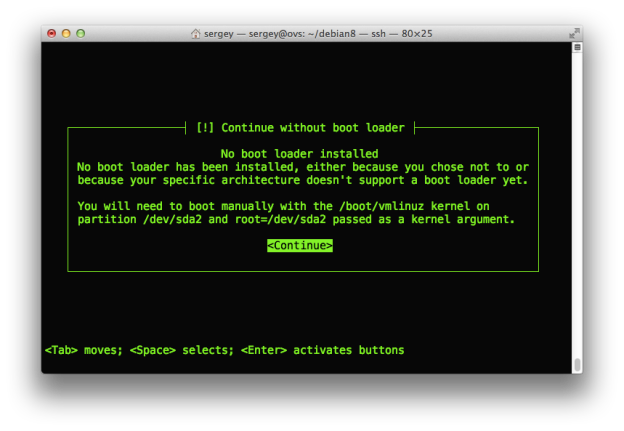 debian8-arm64-no-loader-warning
